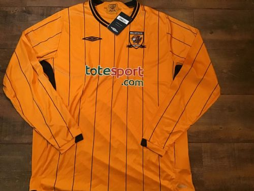 2009 2010 Hull City BNWT Home L/s Football Shirt Adults XL